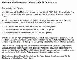 Fristgerechte Kündigung Mietvertrag : k ndigung mietvertrag fristgerecht office ~ Watch28wear.com Haus und Dekorationen