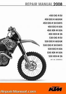 2008 Ktm 450 530 Exc-r Xcr-w Repair Manual