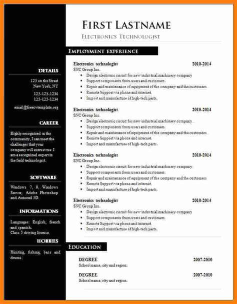 cv resume template microsoft word theorynpractice