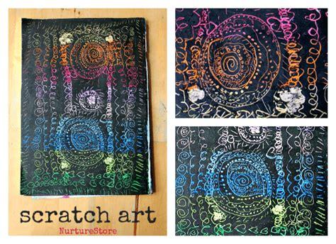 scratch art projects  kids nurturestore