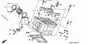 Honda Motorcycle 2001 Oem Parts Diagram For Cylinder Head
