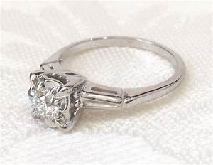 vintage rings engagement rings 194039s diamond engagement With 1940 s style wedding rings