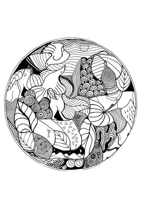 Spirituele Kleurplaten by Mandala Herfst