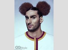 Man Utd midfielder Marouane Fellaini sporting MickyMouse
