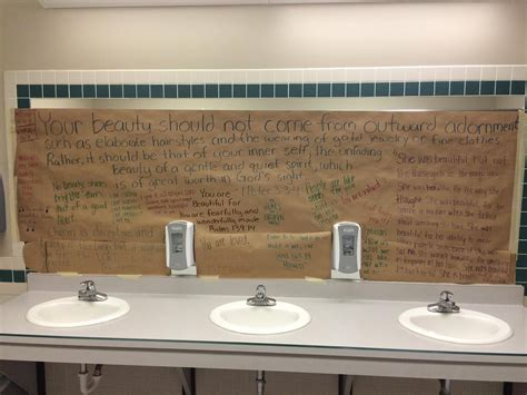 These Students Covered Their School's Bathroom Mirrors To