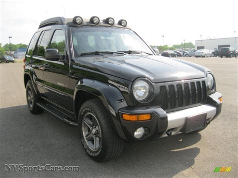 new jeep renegade black 2003 jeep liberty renegade 4x4 in black clearcoat photo