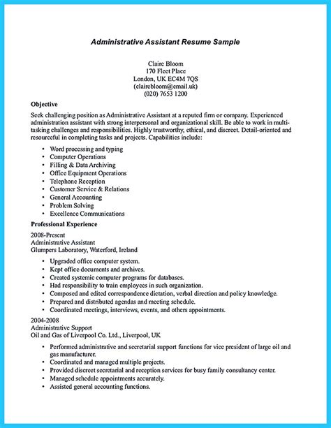 administrative assistant resume sample to make administrative assistant resume