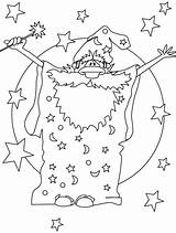 Wizard Coloring Pages Magician Drawing Magic Colouring Hat Merlin Drawings Printable Adult Bestcoloringpagesforkids Designlooter Getcolorings Getdrawings Comments sketch template