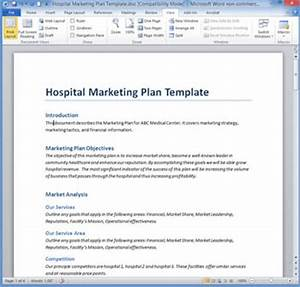 Marketing plan templates 20 formats examples and for Hospital marketing plan template