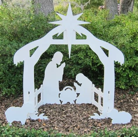 17 inch lighted church scene with colorful rice lights outdoor nativity set lawn nativity large nativity set gifts with