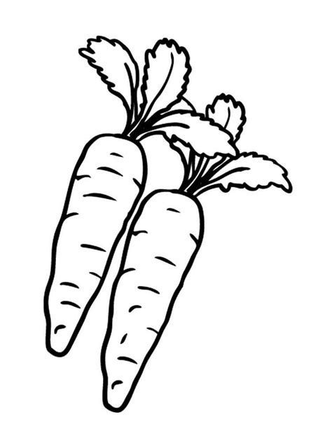 carrot coloring pages and print carrot coloring