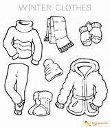 Clothes Winter Coloring Drawing Sheet Collection Drawings Paintingvalley Date sketch template