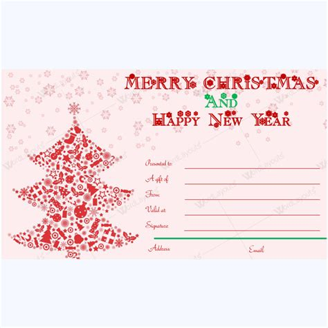 merry christmas  happy  year card template word