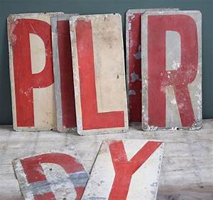 205 best images about vintage signs on pinterest soaps With sheet metal letters