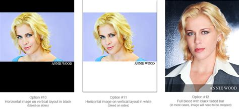 sle 8x10 photo headshot name setups border bleed