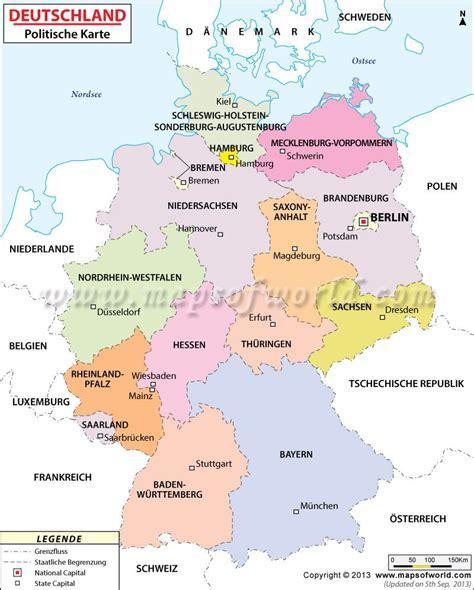 political map  germany  german language landkarte