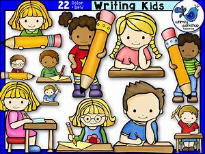 Writing Kids Clip Art | Clip art, Writing skills and Students