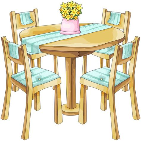 Chair Clipart Dining Area  Pencil And In Color Chair