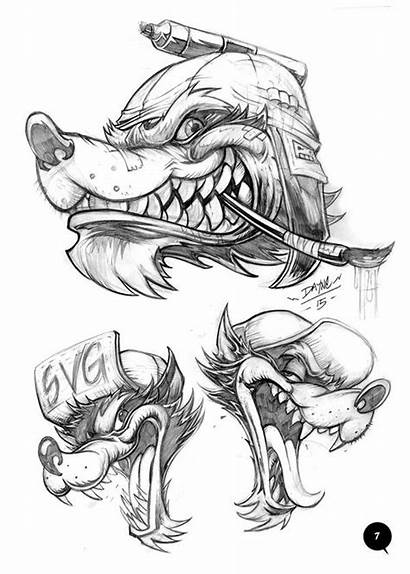 Tattoo Behance Sketches Drawings Drawing Wolf Volume