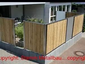 Bambus Edelstahl Sichtschutz : 20 z une aus bambus glas stab lochblech stamm metallbau sinsheim elsenz tsg ~ Markanthonyermac.com Haus und Dekorationen