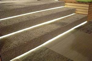 Exterior stair lighting