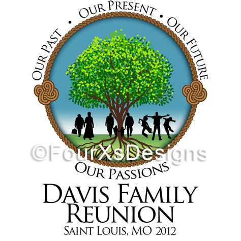 family reunion logo templates fourxdesigns logo davis family reunion