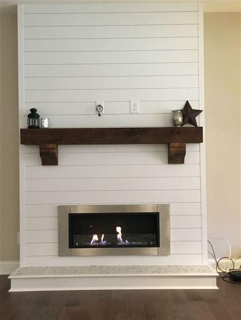 white shiplap wall living room