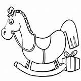 Coloring Christmas Horse Rocking Pages Cliparts Printactivities Printables Print Xmas Appear Printed Navigation Only Popular sketch template