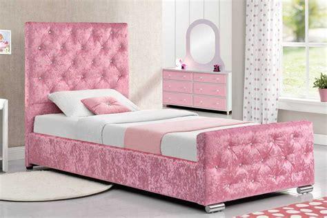 beaumont crushed pink fabric single princess girls storage