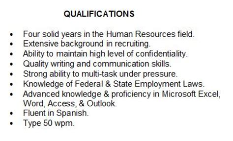 What Is Special Qualification In Resume by Summary Of Qualifications How To Describe Yourself On Your Resume