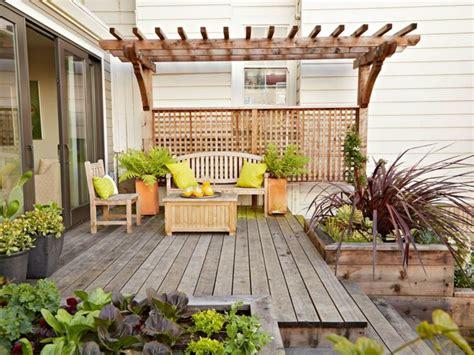 deco de jardin avec terrasse elegante en bois exterieur
