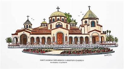 Church Clipart Andrew St Orthodox Saint Temple