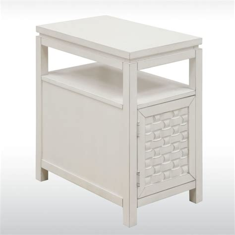end table with drawer and shelf furniture small white wood wedge end table with storage