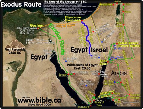 exodus route travel times distances rates  travel