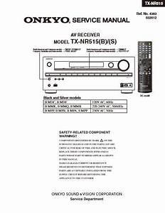 Onkyo Tx Video Receiver Service Manual