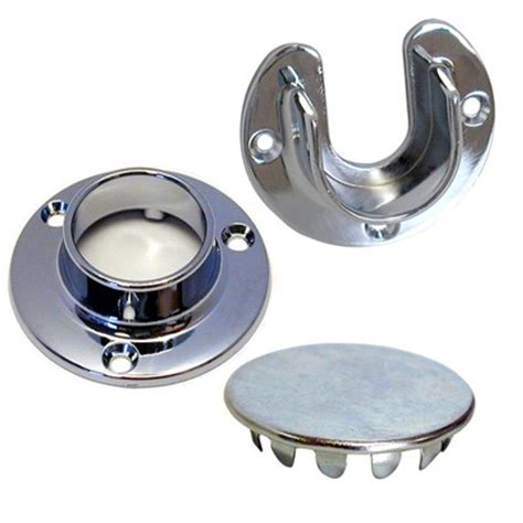 chrome closet rod flanges open closed woodworker s