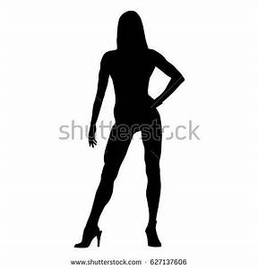 Sexy Fitness Woman Standing On High Stock Vector 627137606 ...