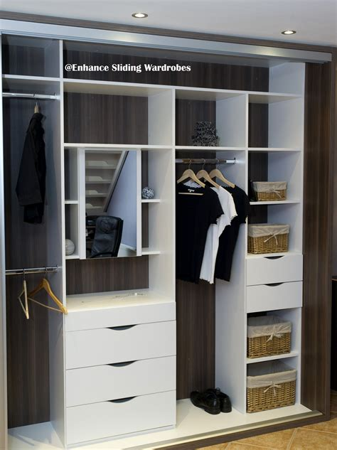 White Hanging Wardrobe by White Fitted Interiors Walk In Wardrobe Shelves