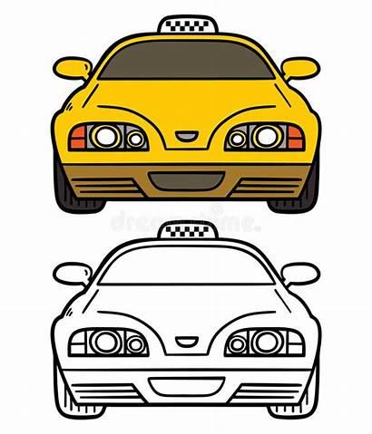 Cab Yellow Illustration Vector