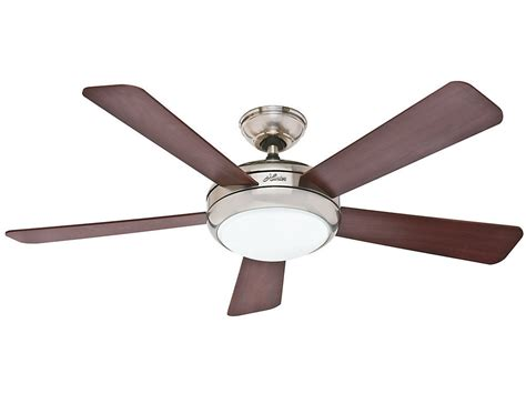 hunter 52 winslow brushed nickel ceiling fan hunter 52 quot palermo contemporary brushed nickel remote