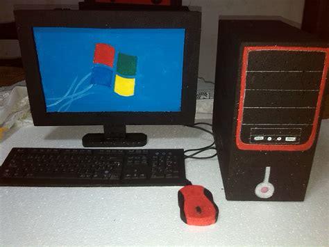 maquetas escolares computador diy cardboard