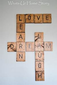 diy scrabble tiles whats ur home story my blog With diy scrabble letters