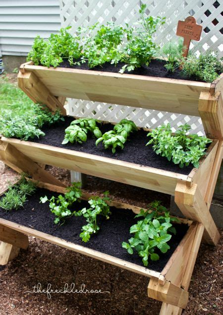 this cedar planter is a way to grow herbs