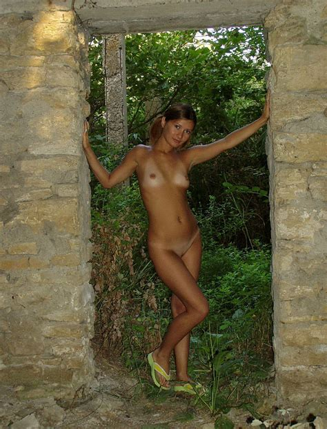 Very Sweet Russian Teen With Tanlines Posing Naked At