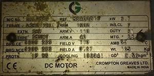 Dc Motor Nameplate Details Explantion