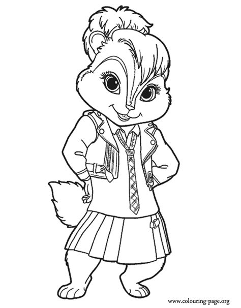 Alvin And The Chipmunk Coloring Pages Alvin And The Chipmunks Miller Coloring Page