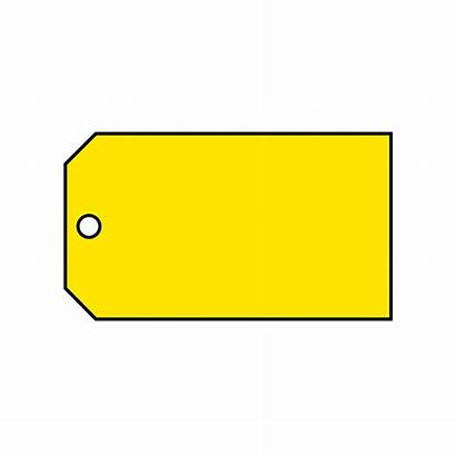 Yellow Tag Material Blank Brady Control Tags