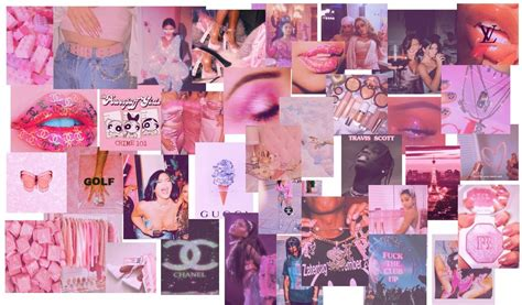 80 pcs pink aesthetic collage kit in 2020 aesthetic