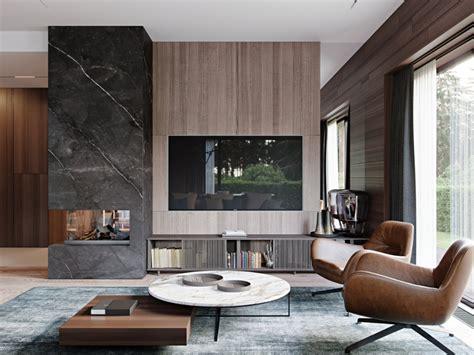 印际 Ab Architects Barvikha Level in 2020 Tv room design Living room decor fireplace Apartment interior design