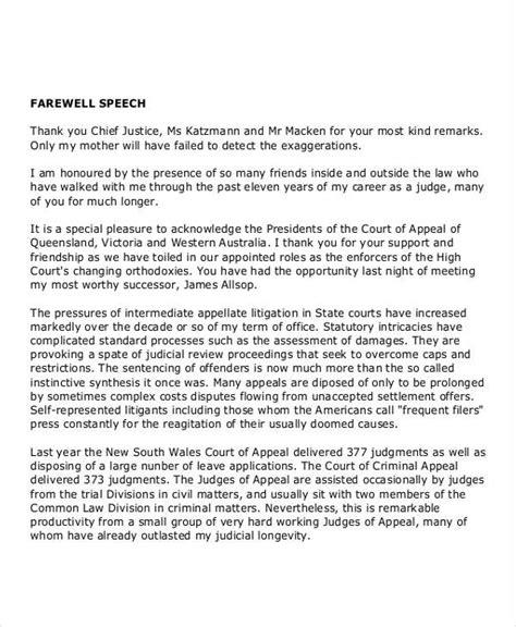 retirement speech examples  boss farewell speech